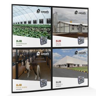 HJB ventilador Casals de gran caudal para granjas, invernaderos, hípicas e industrias